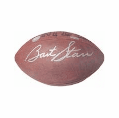 Bart Starr Green Bay Packers Autographed Official Wilson Football