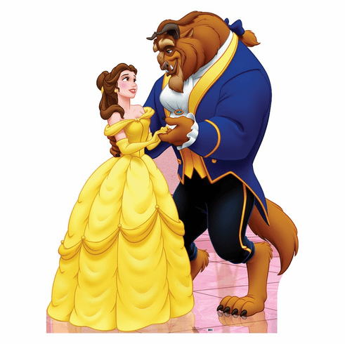 Belle and Beast Beauty and the Beast Cardboard Cutout