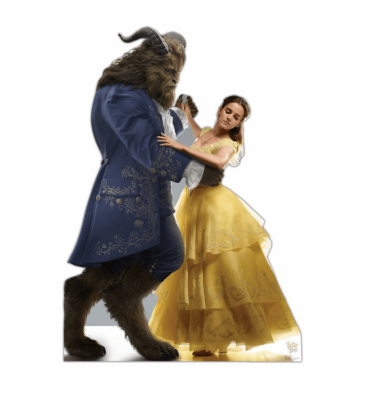 Belle and Beast Disney Beauty and the Beast Live Action Cardboard Cutout