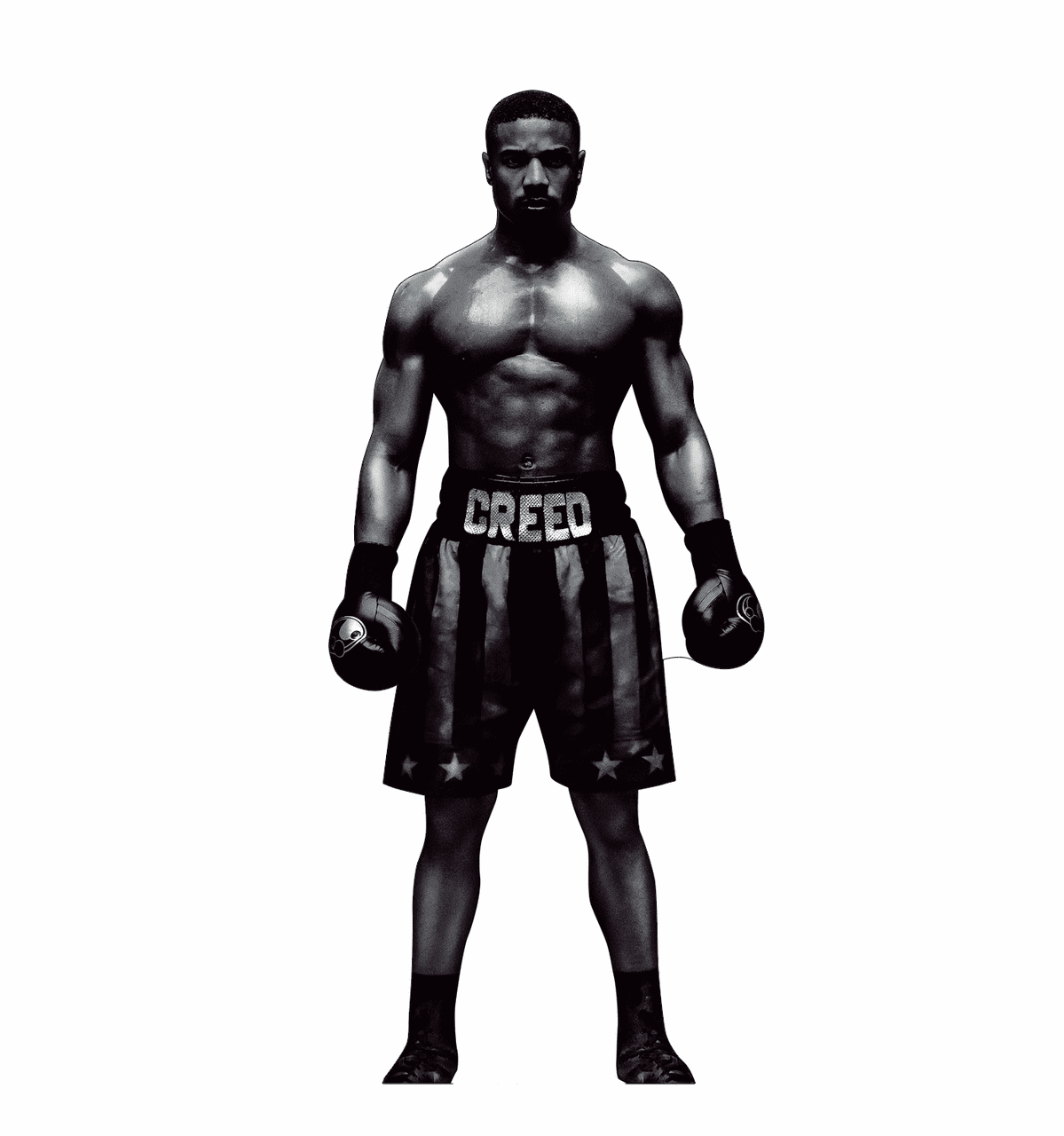 Black and White Adonis Creed Standee