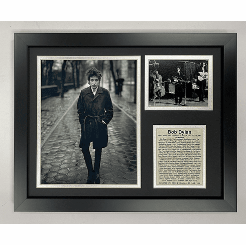 Bob Dylan Framed Photo Collage 11 by 14-Inch