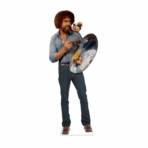 Bob Ross and Squirrel Standee