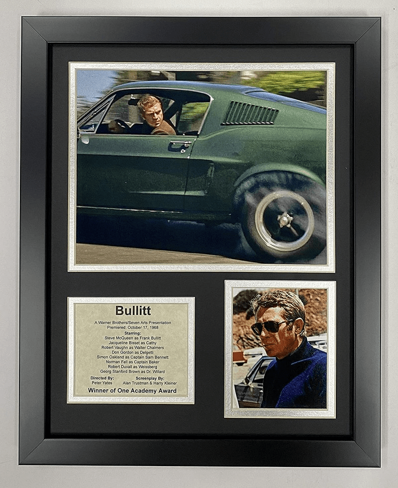 Bullitt Movie Steve McQueen Collectible Framed Photo Collage