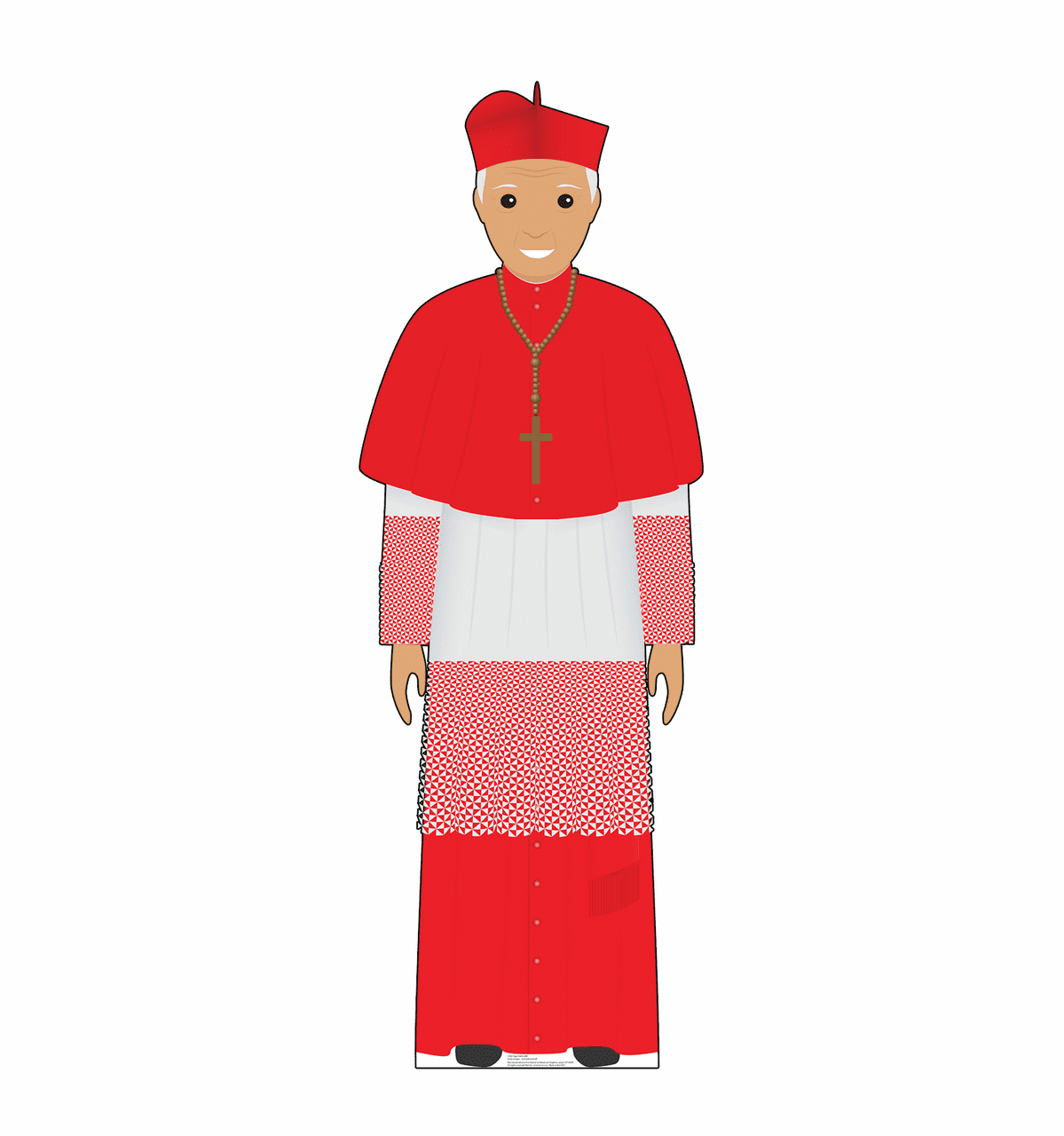 Cartoon Pope in Red Standee