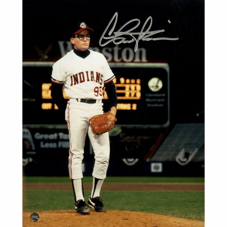 Charlie Sheen Signed Major League 8x10 Photo