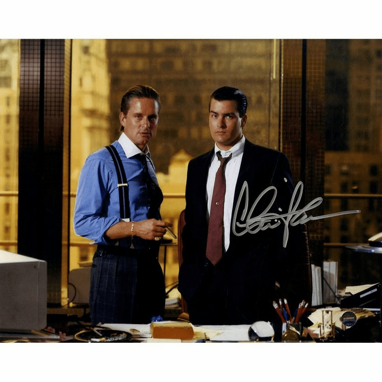 Charlie Sheen Signed Wall Street 8x10 Photo