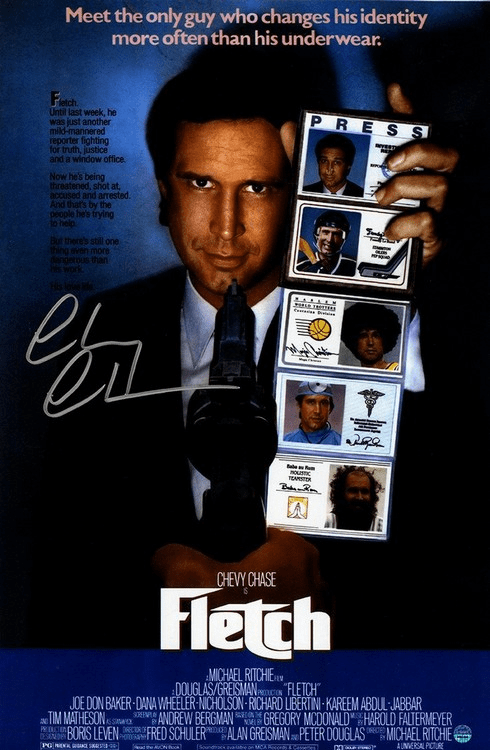 Chevy Chase Signed Fletch 11x17 Movie Poster