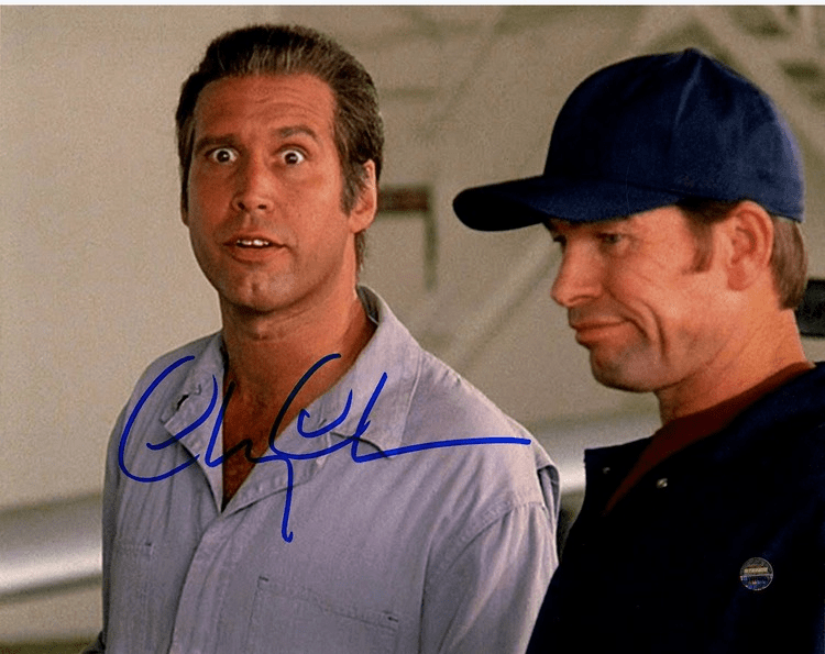 Chevy Chase Signed Fletch Airplane 8x10 Photo