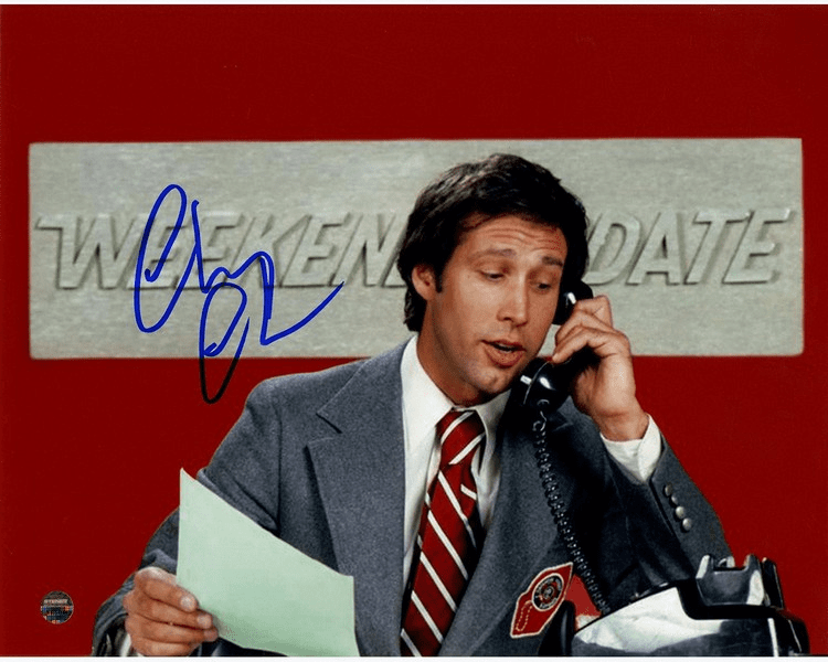 Chevy Chase Signed SNL Weekend Update 8x10 Photo