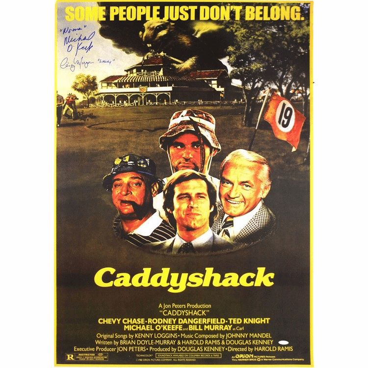 Cindy Morgan Michael Okeefe Dual Signed 23x355 CaddyShack Movie Poster