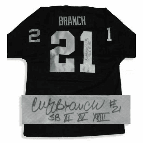 Cliff Branch Oakland Raiders Autographed NFL Throwback Black Jersey