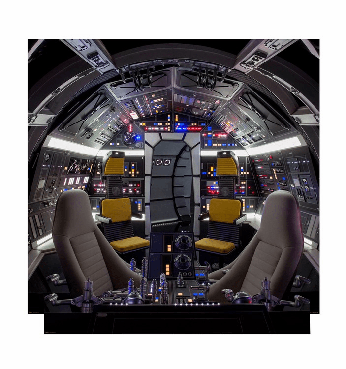 Cockpit of Millennium Falcon Backdrop Star Wars Han Solo Movie Standee