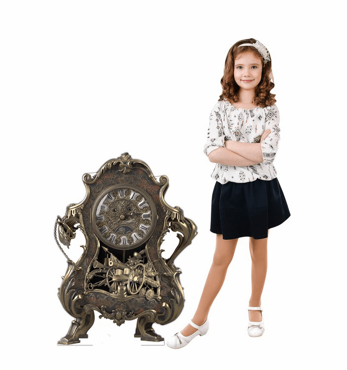 Cogsworth Disney Beauty and the Beast Live Action Cardboard Cutout