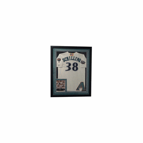 Curt Schilling Framed & Autographed Rawlings World Series 2001 Jersey