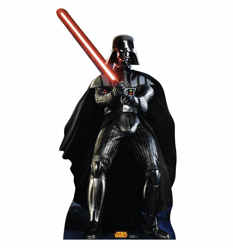 Darth Vader Star Wars Classics Retouched Cardboard Cutout