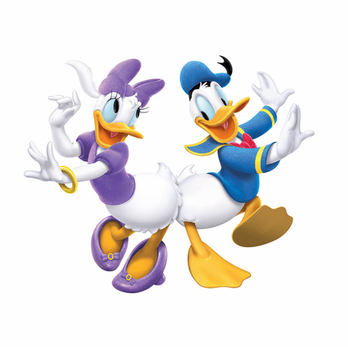 Donald & Daisy Dancing Standee