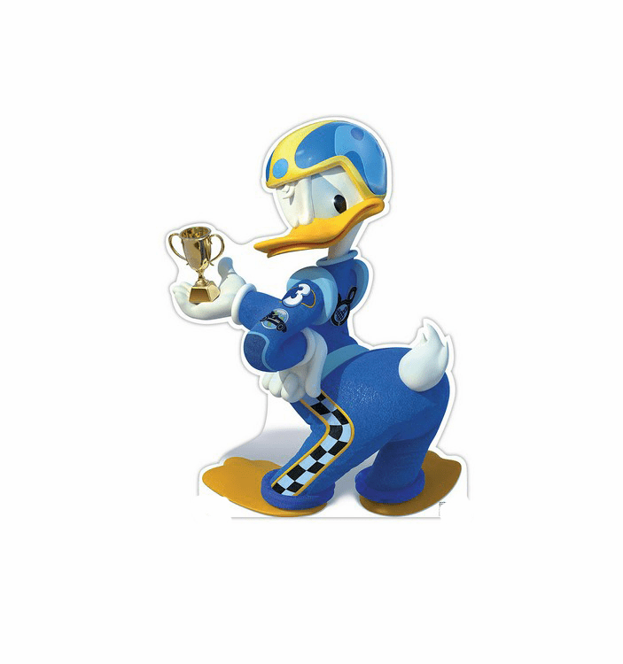 Donald Duck Trophy Disney's Roadster Racers Cardboard Cutout