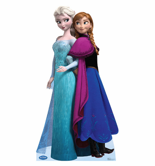 Elsa and Anna Frozen Standee