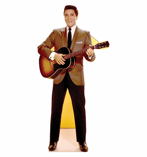 Elvis Guitar Talking Cardboard Cutout