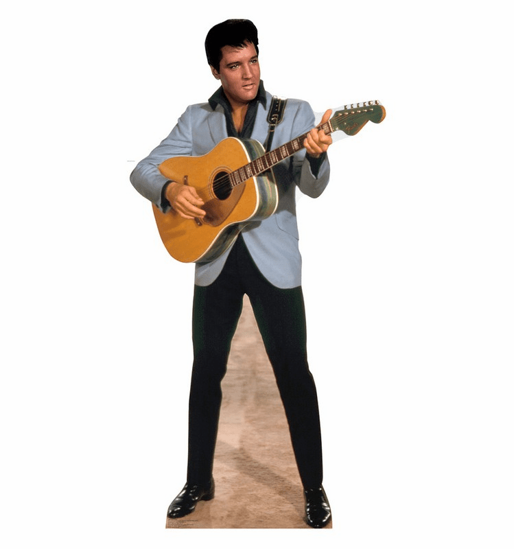 Elvis Light Blue Jacket Cardboard Cutout