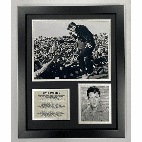 Elvis Presley Performing Live Collectible Framed Photo Collage