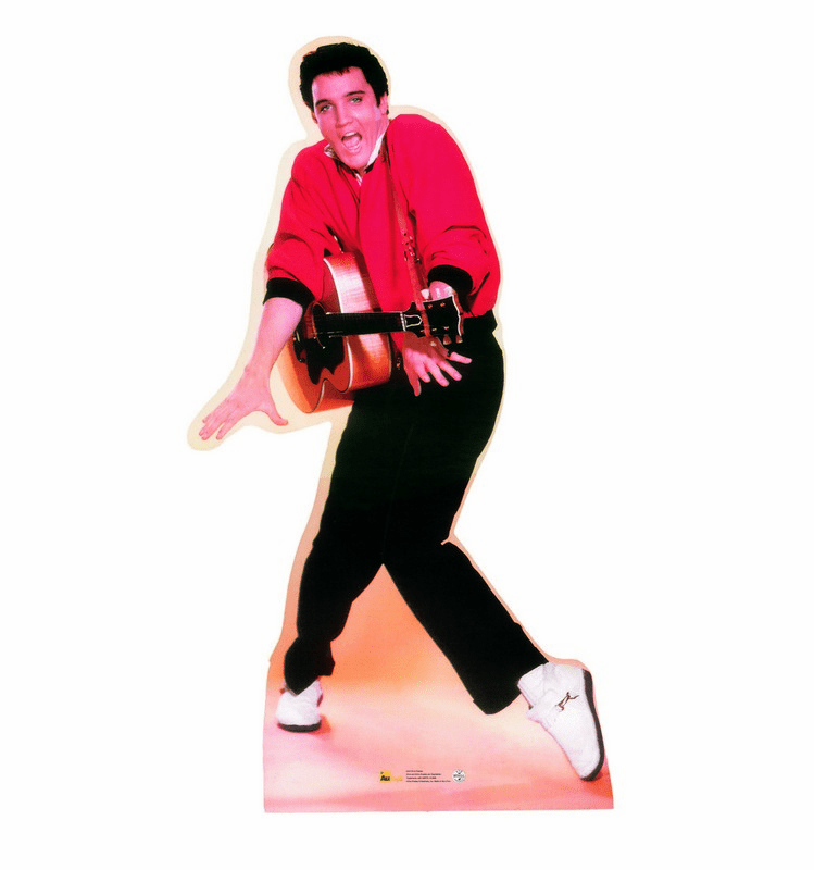 Elvis Presley Red Sweater Talking Cardboard Cutout