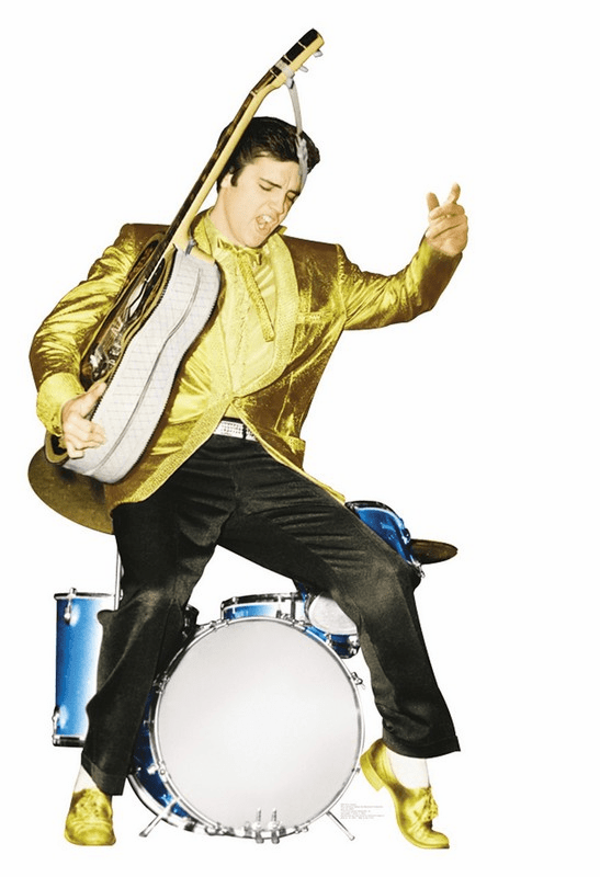 Elvis Presley with Drums Talking Cardboard Cutout