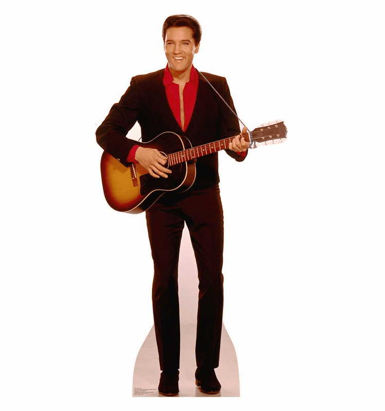 Elvis with Guitar Cardboard Cutout
