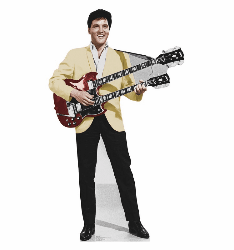 Elvis Yellow Jacket Cardboard Cutout
