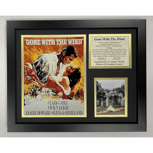 Gone with the Wind Movie Art Framed Photo Collage 11 by 14-Inch
