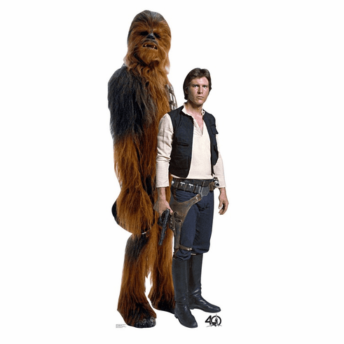 Han Solo and Chewbacca Star Wars 40th Standee