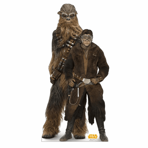 Han Solo and Chewbacca Star Wars Han Solo Movie Standee