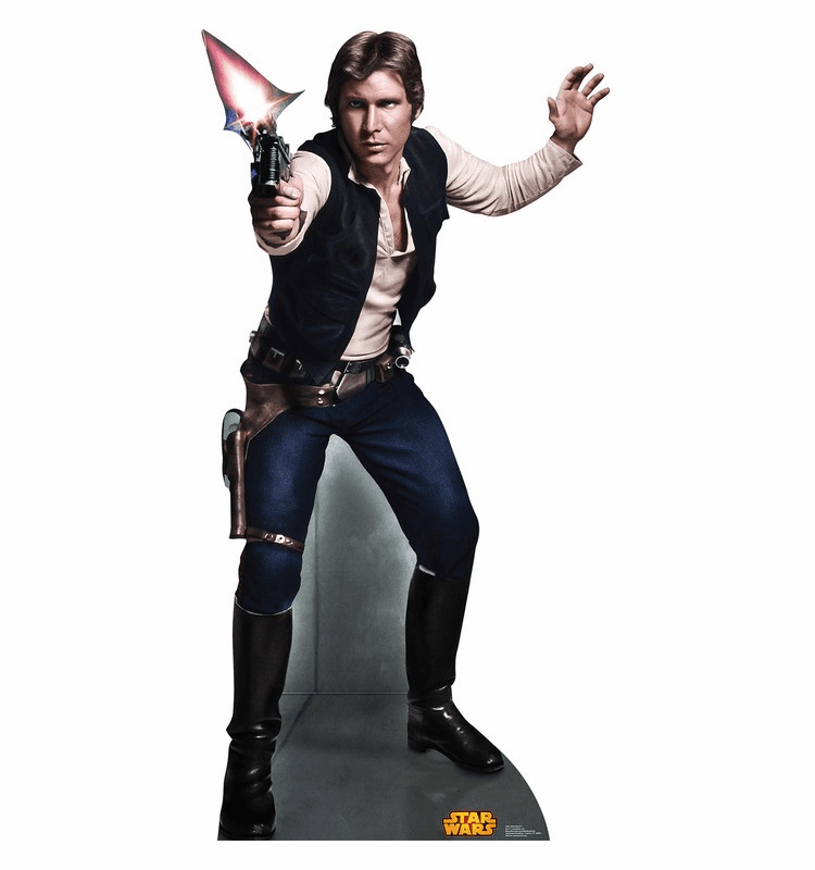 Han Solo Star Wars Classics Retouched Cardboard Cutout