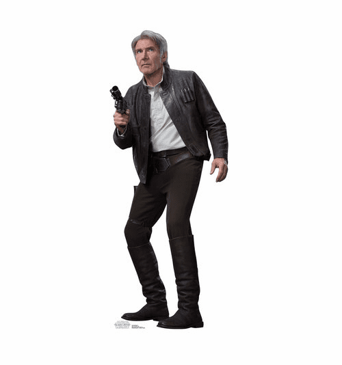 Han Solo Star Wars VII: The Force Awakens Standee