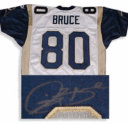 Isaac Bruce St. Louis Rams Authentic Autographed NFL Puma White Jersey