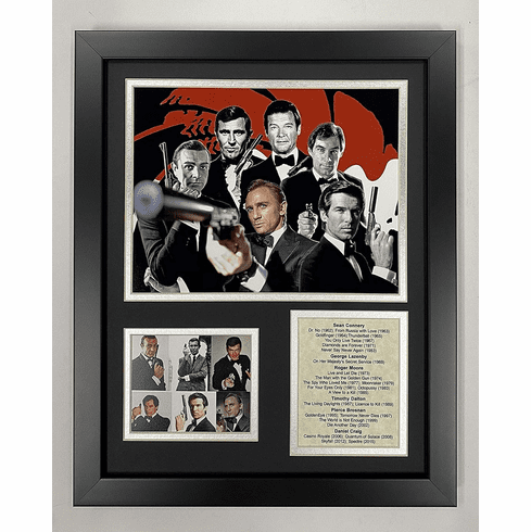James Bond Framed Photo Collage 11 x 14
