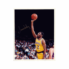 James Worthy Los Angeles Lakers Autographed Photofile 8x10 Photo