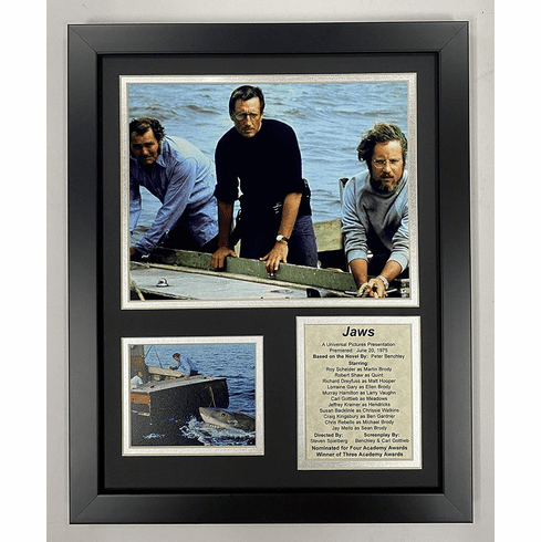 Jaws Movie Collectible Framed Photo Collage