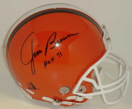 Jim Brown Cleveland Browns Authentic Autographed NFL Helmet