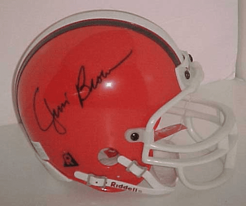 Jim Brown Cleveland Browns Authentic Autographed NFL Mini Helmet