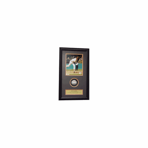 Jim Palmer Autographed Rawlings American League Baseball Shadow Box
