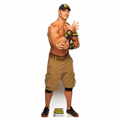 John Cena Navy and Gold WWE Standee
