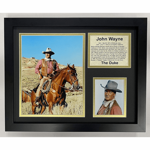 John Wayne on his Horse Western Legend Framed Photo Collage