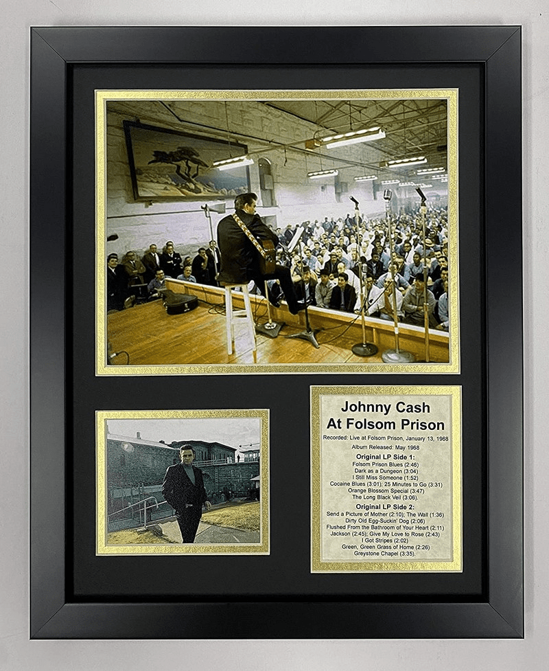 Johnny Cash at Folsom Prison Collectible Framed Photo Collage