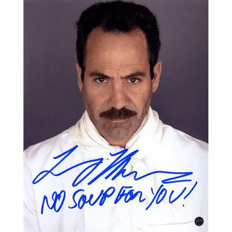 Larry Thomas The Soup Nazi Signed 8x10 Photo w No Soup For You! Insc