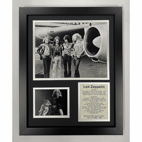 Led Zeppelin Plane Rock & Roll Legends Framed Photo Collage