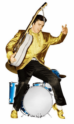 Life Size Elvis Presley Standee with Gold Jacket