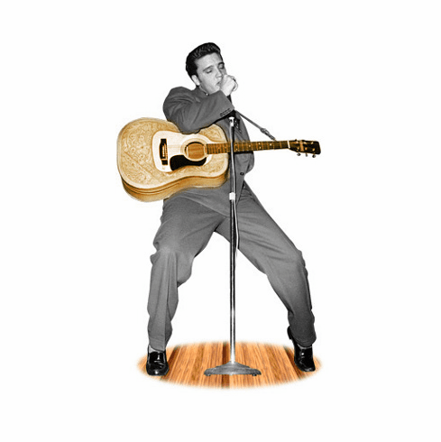 Life Size Elvis Presley Standee with Guitar