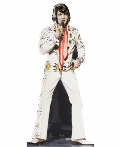 Life Size Elvis Presley Standees - White Jumpsuit