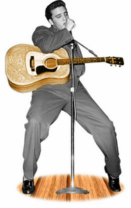 Life Size Elvis Presley Standees with Guitar